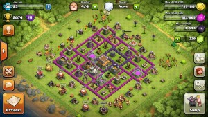 Defense Trophy Base layout - CoC best defense TH8