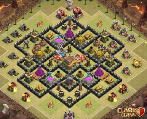 CoC best defense TH8