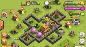 Clash of Clans Layout Level 4 - Defensive Base Layout