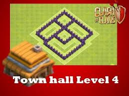 Clash of Clans Layout Level 4 - Farming Base Layout