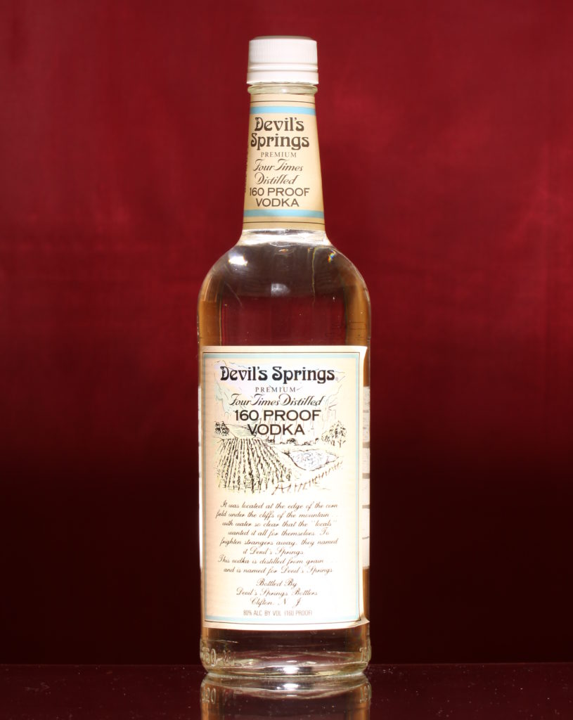 Devil Springs Vodka-strongest alcohol