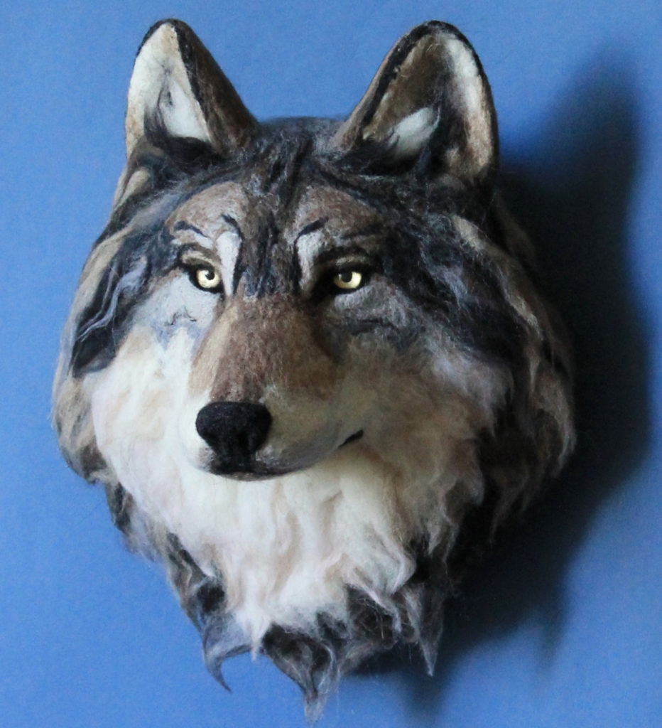 Wolf Head on the Wall