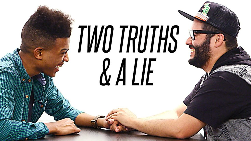 Two Truths and a Lie - drinking games for 2 people